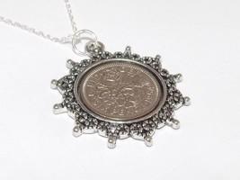 étoile Pendentif 1957 Sixpence PORTE-BONHEUR 60TH Anniversaire + 20IN - $22.05