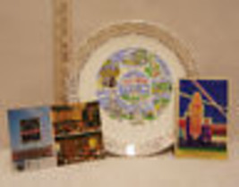 VINTAGE ILLINOIS SOUVENIR LOT PLATE 2 POSTCARDS DANIELS - $14.10