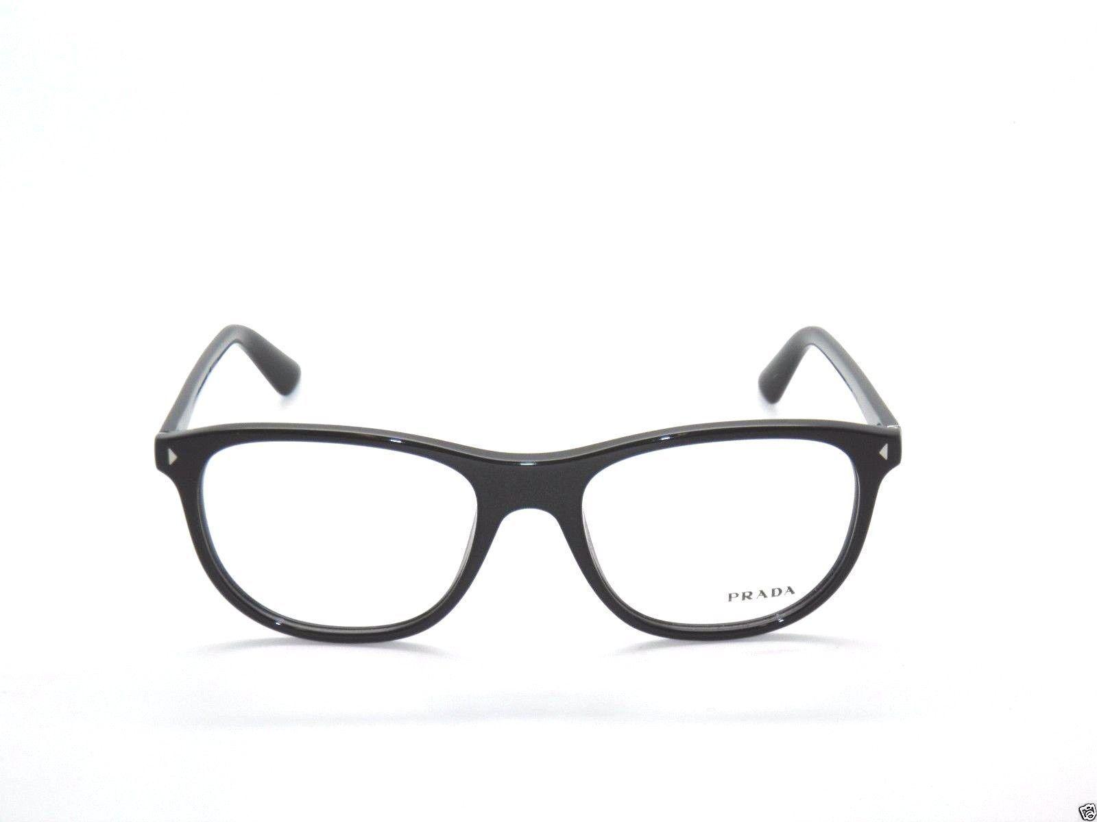 ee16316d8e2 Prada VPR 17R 1AB-1O1 Black Eyeglasses Frames 56mm - 123 - £47.12 GBP