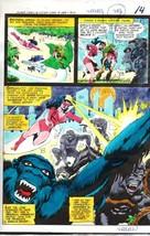 1978 JLA DC Comics color guide art page:Star Sapphire/Plant Master/Goril... - $99.50