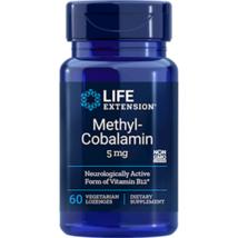 NEW Life Extension Methylcobalamin Vitamin B12 Non-GMO 5mg 60Vegetarian Lozenges - $25.13