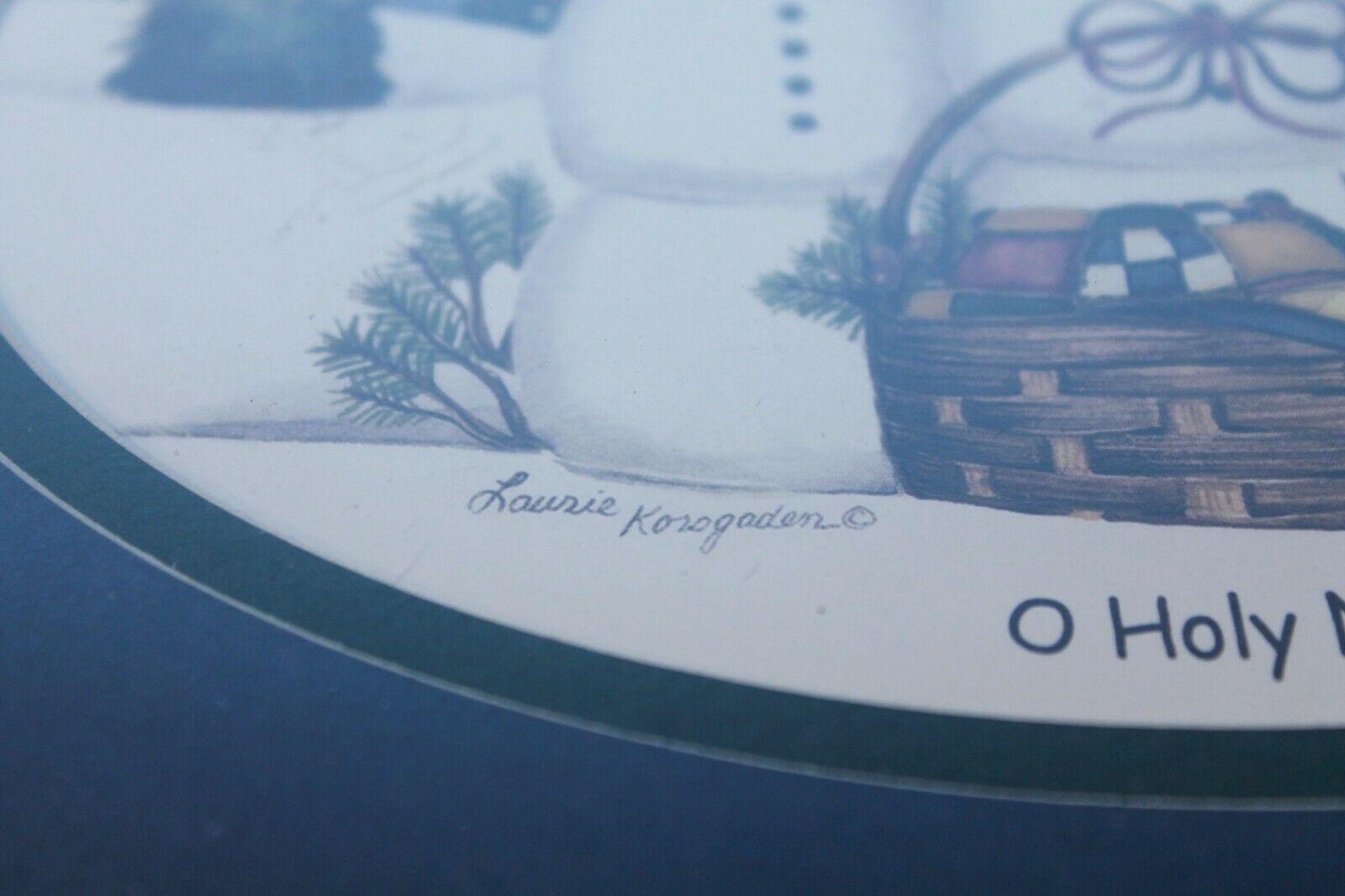 Framed Christmas Snowman Picture - Laurie Korsgaden