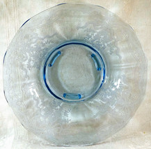 Fostoria Azure Blue Glass June Etch #279 Larger footed Serving Centerpie... - $39.99