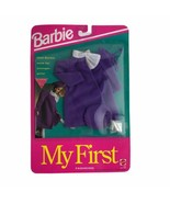 Mattel 1992 Barbie My First Fashions Purple Beret Coat And Heels New In Box - $21.33