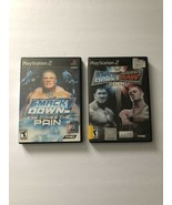 Lot Of 2 PS2 Games WWE Smackdown Here Comes The Pain & WWE Smackdown Vs ... - $28.55