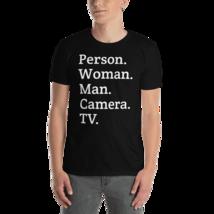 person woman man camera tv / person woman man camera tv T-Shirt image 4