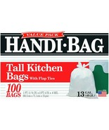 Handi-Bag Kitchen Trash Bags, 13 Gallon, Flap Ties, Value Pack 0.6 Mil W... - $14.15