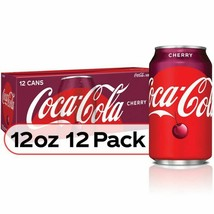 Coca Cola Cherry Coke 12 oz cans (pack of 12) - $19.70