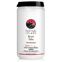 Hot Tub Things Bromine Sanitizer Tabs 5 Pounds - Specially Formulated for Spas