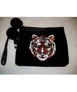 No Boundaries Wallet Wristlet Black Sequin Tiger Design Carry All NEW - £9.83 GBP