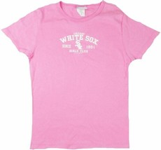 Medium Junior Women's Chicago White Sox Tee Shirt MLB Lady Slugger Pink NEW
