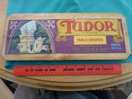 Vtg Caja Caja Publicidad Panel Tudor Mesa Uvas Dan Delano California Tho... - $9.86