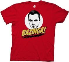 The Big Bang Theory Sheldon Face and Bazinga! T-Shirt Size XL Style 2 NE... - $14.50
