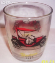1960'S RETRO HAZEL ATLAS--OLD AUTOS/ OLD TIMERS HI-BALL GLASS  HUDSON / ... - $8.95