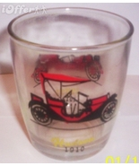 1960'S RETRO HAZEL ATLAS--OLD AUTOS/ OLD TIMERS HI-BALL GLASS  HUDSON / ... - $8.95