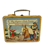 Vintage Tin Roy Rogers and Dale Evans Double Bar Ranch Lunch Box and The... - $85.04