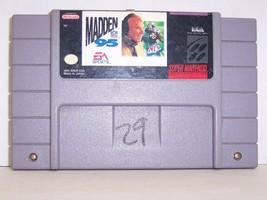 "Super Nintendo ""Madden NFL 95 Video Game Cartridge"" (Nintendo SNES, 1994... - $9.89"