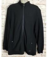 Calvin Klein Jacket Men's Full Zip Front Black Cotton Size XL - $23.75
