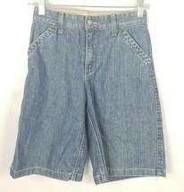 Gap Kids Boys Denim Shorts 10 Loose Fit Blue Cotton - $14.84