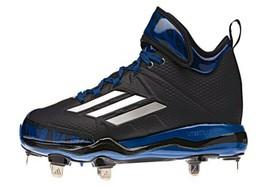 Adidas Dual Threat Men Blue Black Baseball Cleats New - $27.67