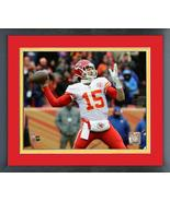 Patrick Mahomes 2017 Kansas City Chiefs Action -11x14 Matted/Framed Photo - $42.95
