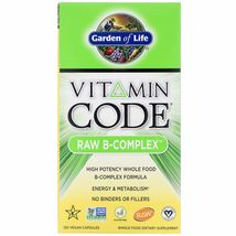 Garden of Life Vitamin Code Raw B-Complex 120 Vegan Caps Gluten-Free, Kosher, No - $52.99