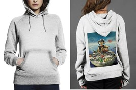Gorillaz On Boat Classic White Women's Hoodie - $28.80