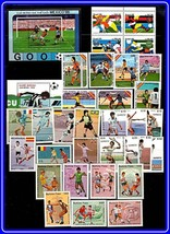 collection FOOTBALL CUP  x 5 sets + 2 S/S MNH SOCCER, SPORTS, TENNIS - $8.95