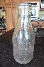 Vtg Milk Glass Bottle M Brenner Maple plc farm QT Regis B Tered Poughkee... - $11.63