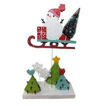 Christmas Snowman Motion Scene Decoration - $21.95