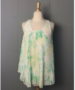 Philosophy Women's Mint Green Sheer Pleated Blouse Size M - $9.49