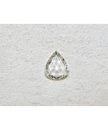 Natural Rose Cut White Diamond Pear Shaped 1.23 Carats Stone For Ring Pe... - $1,591.25