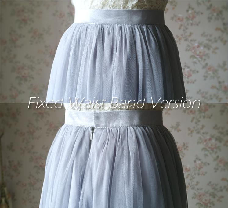 Gray tulle skirt bridesmaid skirt 09
