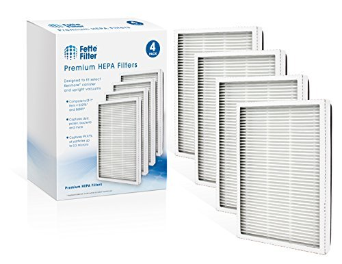 Fette Filter - 4 Pack of 86889 HEPA Filters Compatible with EF-1 Sears Kenmore V