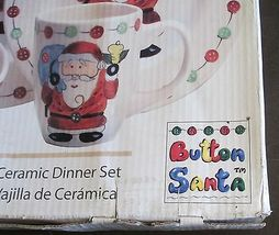 Tabletops Gallery Button Santa Boxed Set of 16 Plates, Bowls and Mugs image 3