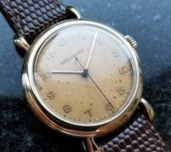 Jaeger LeCoultre Solid Gold 33mm Swiss 1950s Manual Mens Vintage Watch MA72 - $2,420.85