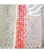 Peach Mother of Pearl Shell Beads Round lentil, 10mm 1 str, 40 beads - $2.85