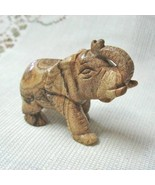 Natural Stone Picture Jasper Carved Elephant, 2.5 in. - $16.00