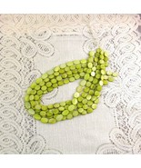 Mother of Pearl Flat Oval Shell Beads Green 12mm 1 16 in. str. 35 pc. - $2.85