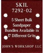 SKIL 7292-02 - 1/4 Sheet - 17 Grits - No-Slip - 5 Sandpaper Bulk Bundles - $7.14
