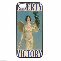 LIBERTY VICTORY VINTAGE WAR POSTER Apple Iphone Case 4 5/5s 5c 6 Plus 6s... - $8.46