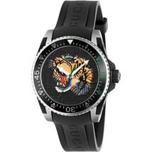 Gucci YA136318 Multi color Dial Rubber Strap Gents Watch - $689.99