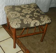 Oak Spindle Footstool Stool  (ST114) - $199.00