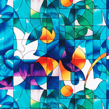 """Dove Stained Glass Decorative Window Film 36"""" Wide x 6.5 Ft. Long - $67.10"""