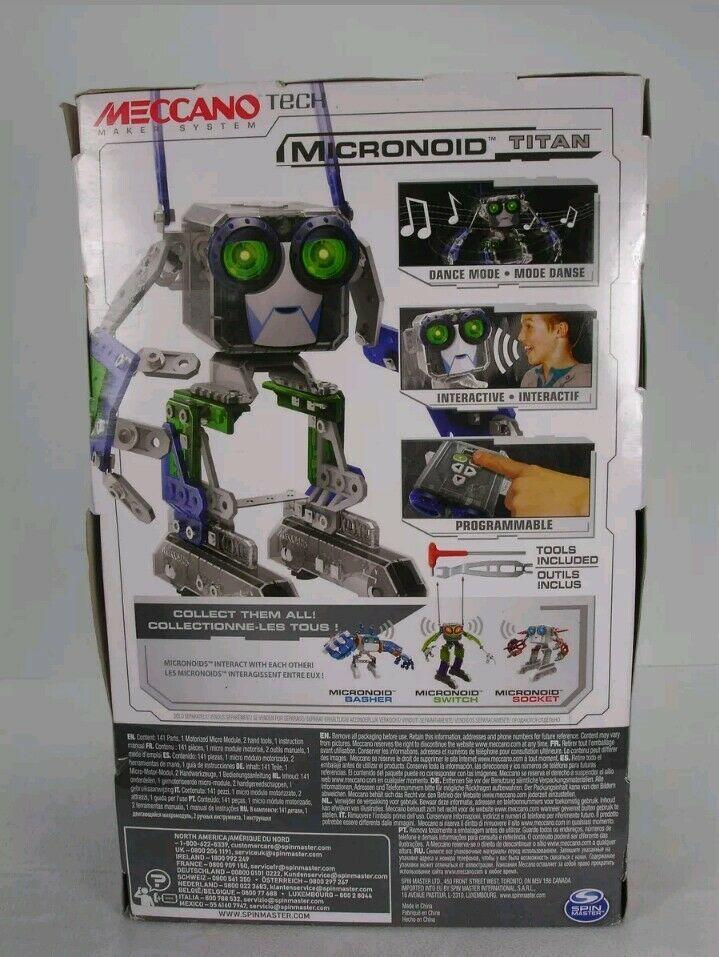 Meccano Micronoid Titan Programmable Interactive Robot
