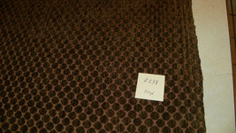 Taupe Gold Circle Print Chenille Upholstery Fabric 1 Yard  R238 - $39.95