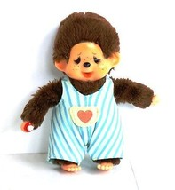 Crying Monchhichi doll with striped blue dungar... - $24.90