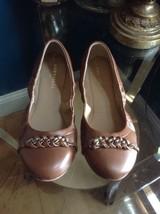 Ann Taylor Chain Detail Flats Size 6 Dark Chocolate Style 368987 - $28.70