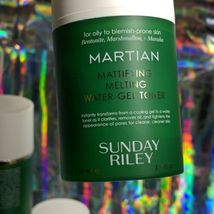 LOT OF 4 Sunday Riley MARTIAN MATTIFYING MELTING Water Gel Toner 200mL $100RV image 3