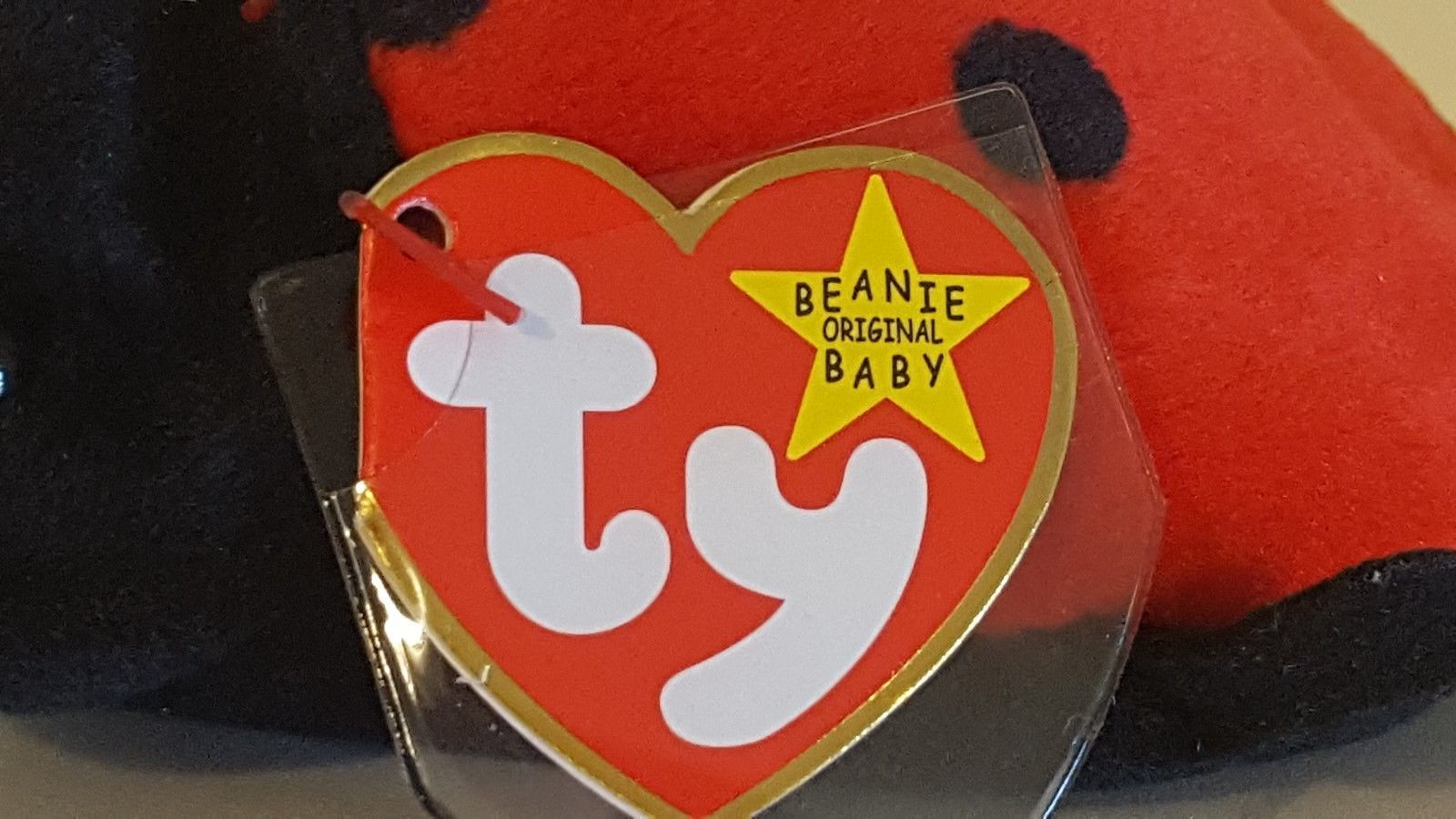ed64409a0fa TY ORIGINAL BEANIE BABY 1993 SN 4040 – LUCKY THE LADY BUG – RETIRED - MWMT